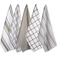 """DII Kitchen Dish Towels (Brown, 18x28""""), Ultra Absorbent & Fast Drying, Professional Grade Cotton Tea Towels for…"""