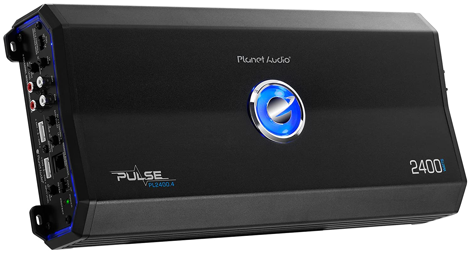 Full Range Planet Audio PL1200.2 Pulse 1200 Watt Bridgeable 2 to 8 Ohm Stable Class A//B MOSFET Car Amplifier with Remote Subwoofer Control 2 Channel