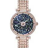 Princess Butterfly Lady Watch Full Of Austria Crystal HL639P Rose Gold