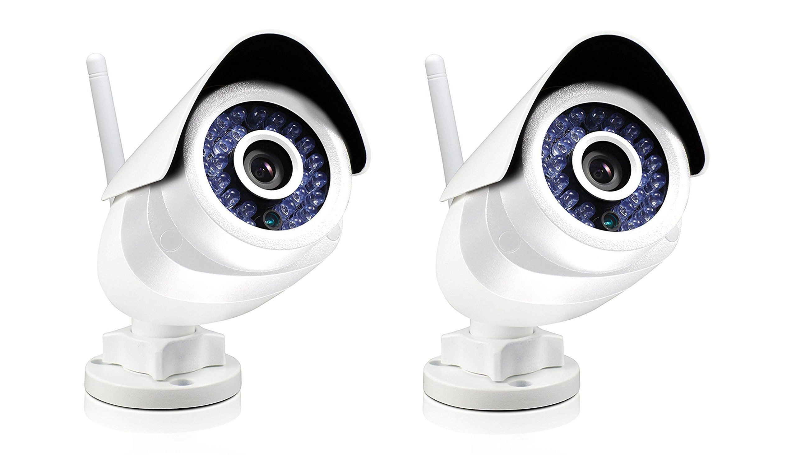 2 Pack White Swann SWO-SVC02K-US One SoundView Cam, Outdoor by Swann