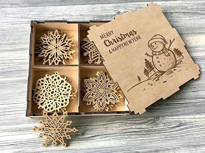 Amazon.com: Wooden Christmas Decorations Rustic Christmas Ornaments ...