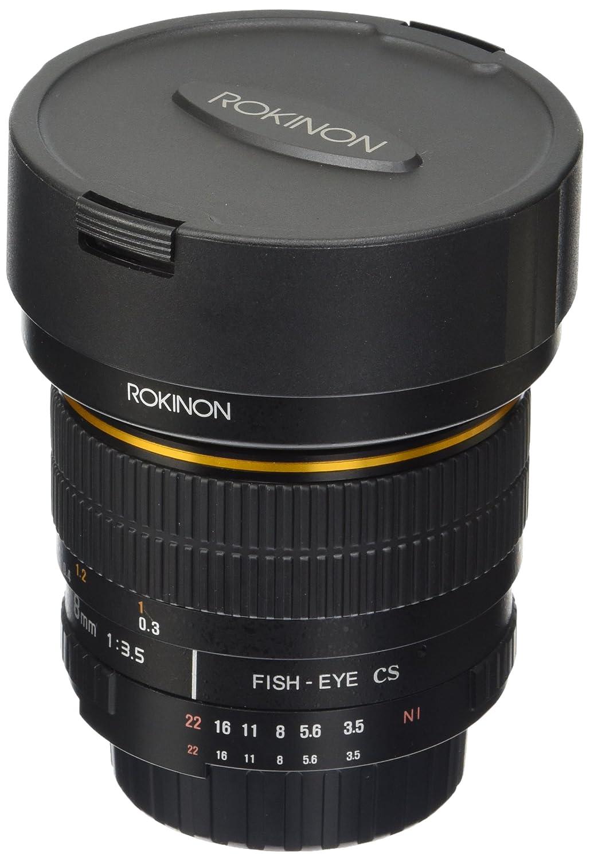 Amazon.com : Rokinon FE8M-N 8mm F3.5 Fisheye Fixed Lens for Nikon (Black) :  Camera Lenses : Camera & Photo