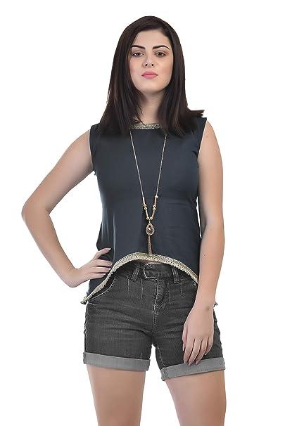 197c887540770 VAANYA Women s Rayon Bell Sleeve Plain Casual Tops T-Shirt  Amazon ...