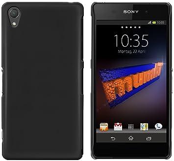 Mumbi Carcasas Sony Xperia Z2 Carcasa (Duro Negro Mate ...