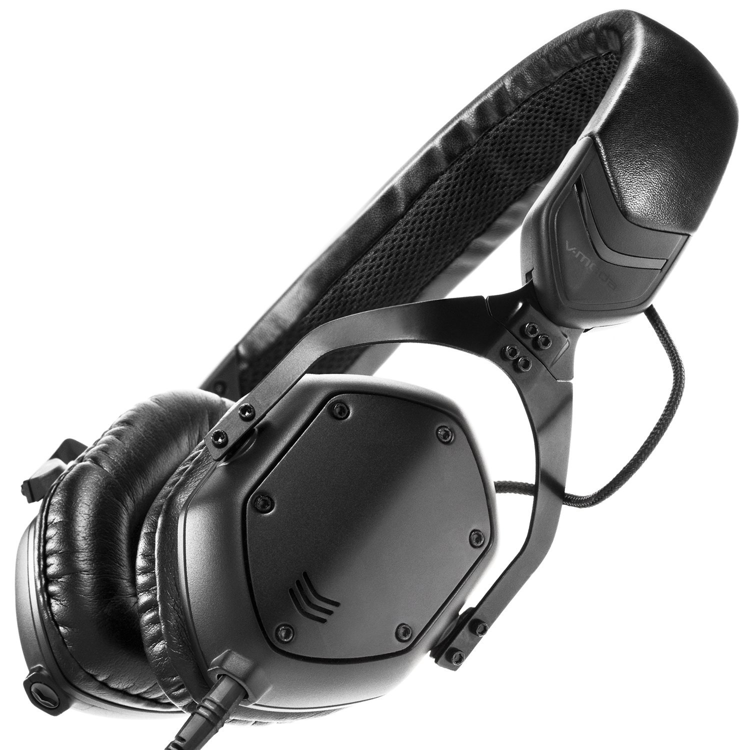V-MODA XS On-Ear Folding Design Noise-Isolating Metal Headphone (Matte Black Metal) by V-MODA