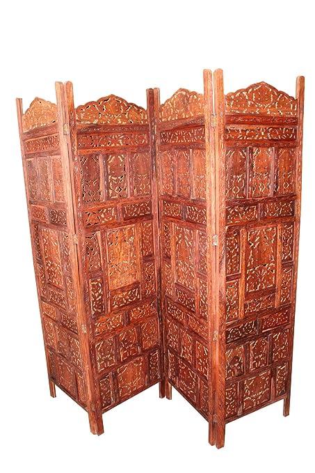 Outstanding Amazon Com Mogul Interior 4 Panel Divider Hand Carved Interior Design Ideas Tzicisoteloinfo