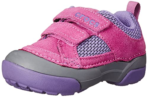 crocs Dawson Easy-On - Zapatillas de cuero para niño, Rosa (wild orchid/charcoal 5l1), 34: Amazon.es: Zapatos y complementos
