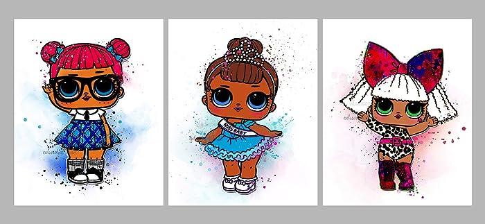 Amazon Com L O L Surprise Doll Inspired Digital Print Watercolor