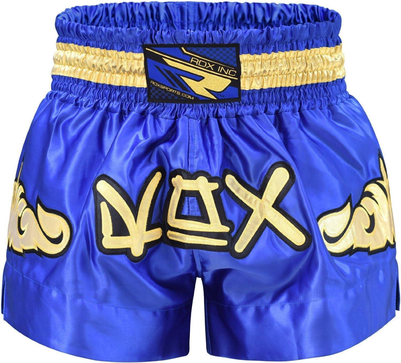 RDX Muay Thai Pantalones Boxeo Corto Entrenamiento MMA Shorts Running Fitness