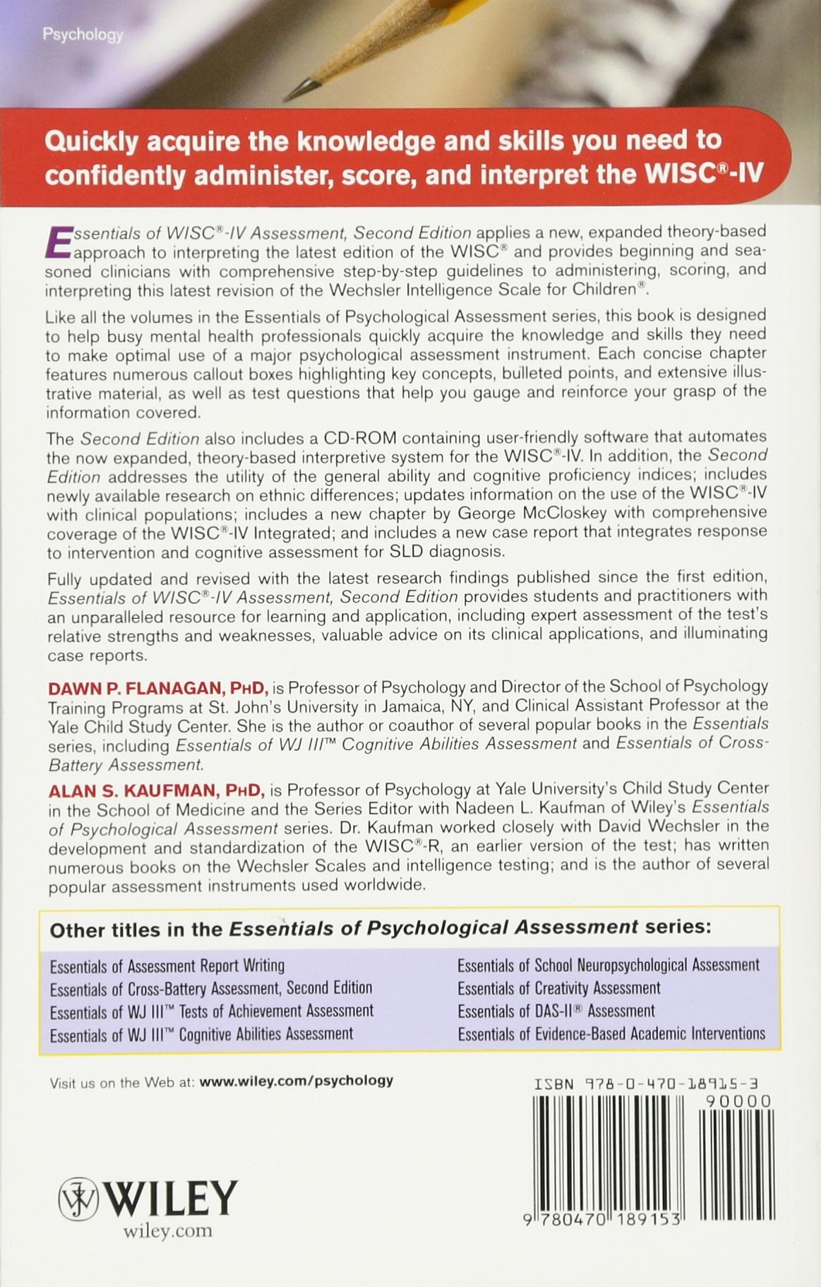 Essentials of WISC-IV Assessment (Essentials of Psychological ...
