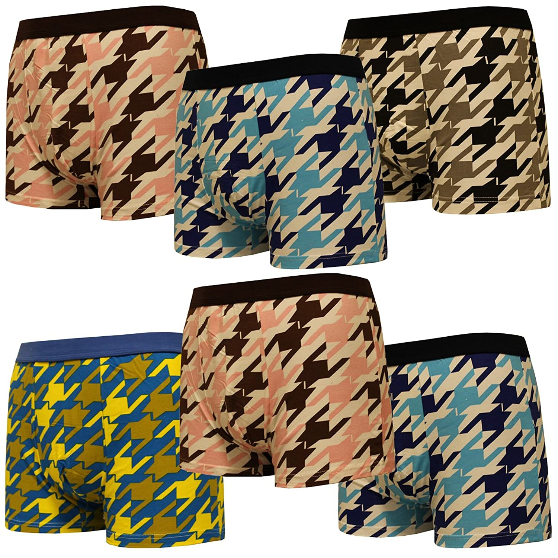 4-6-9er Set Boxershorts Herren Unterhosen Männer Bunt Boxer Short Gemischt Baumwolle Retropants Unterwäsche M L XL XXL Retro Sport Pants Pack