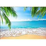 15x10ft Blue Sky Seaside Background Tropical Beach Photography Backdrop Studio Photo Props LYFU205
