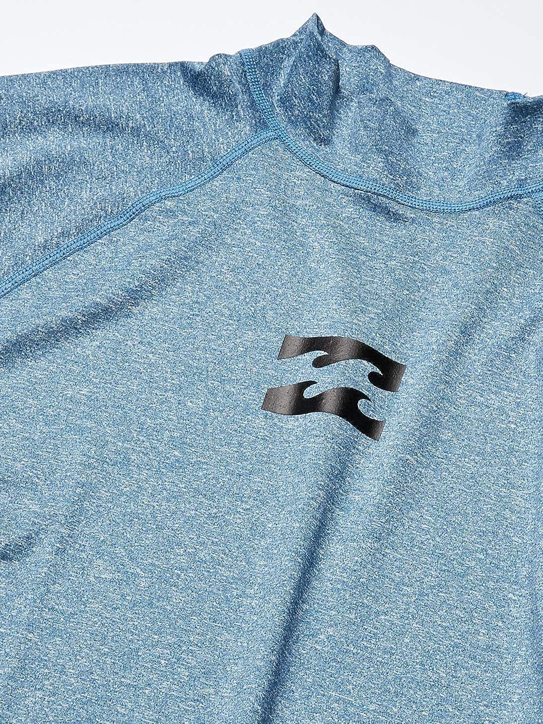BILLABONG Mens All Day Wave Performance Fit Long Sleeve Rashguard Rash Guard Shirt