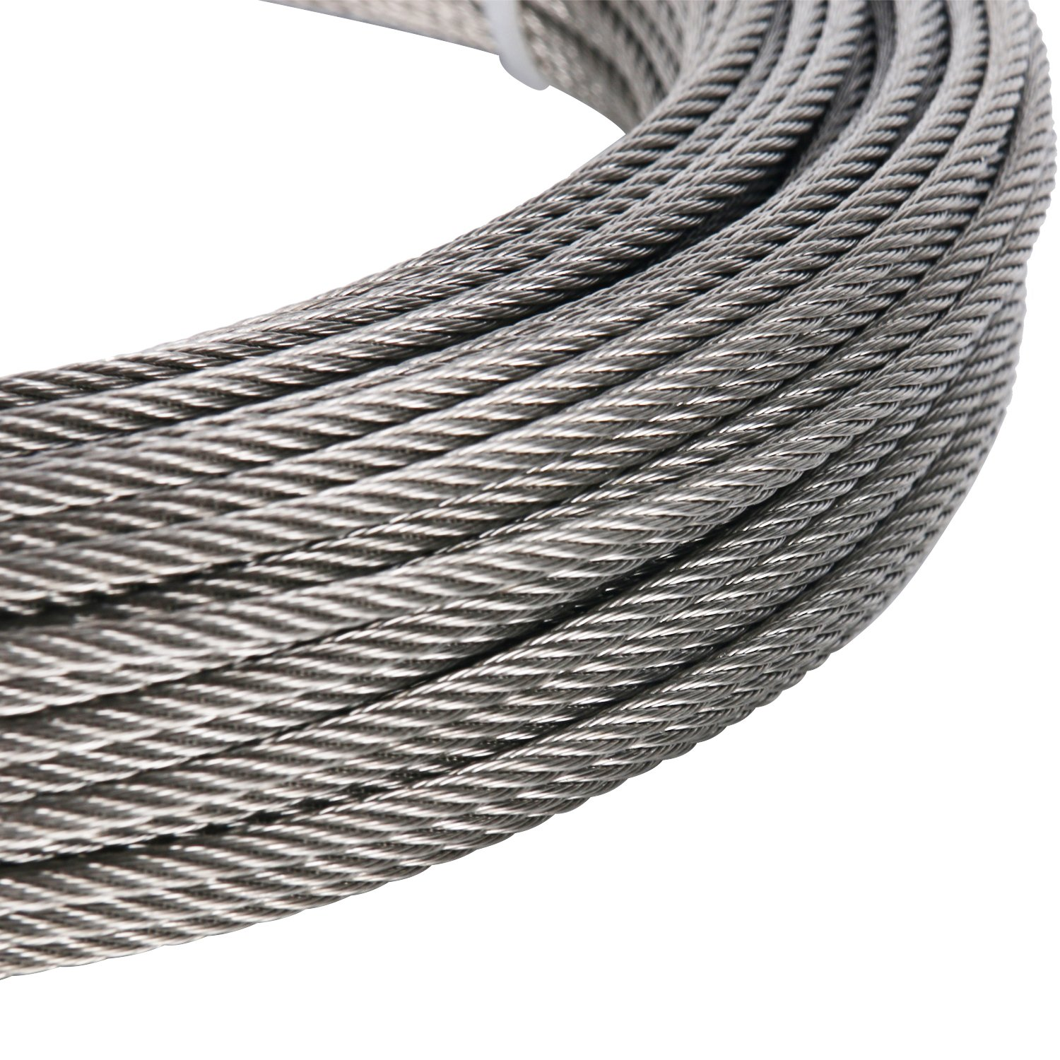DasMarine Stainless Aircraft Steel Wire Rope Cable for Railing,Decking, DIY Balustrade, 1/8Inch,7x7,164Feet by DasMarine (Image #6)