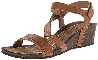 Teva Women's Cabrillo Crossover Wedge Sandal, Tan, ...