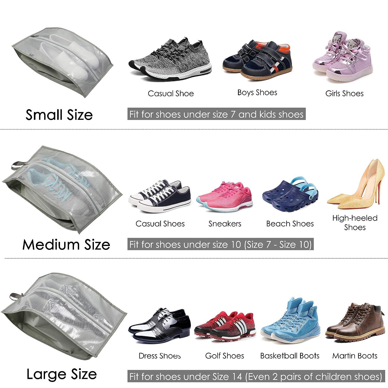 3pcs Shoes Bag for Women Men Hynes Eagle Waterproof Shoe Bag Organizer Travel Shoe Storage with Zipper Closure