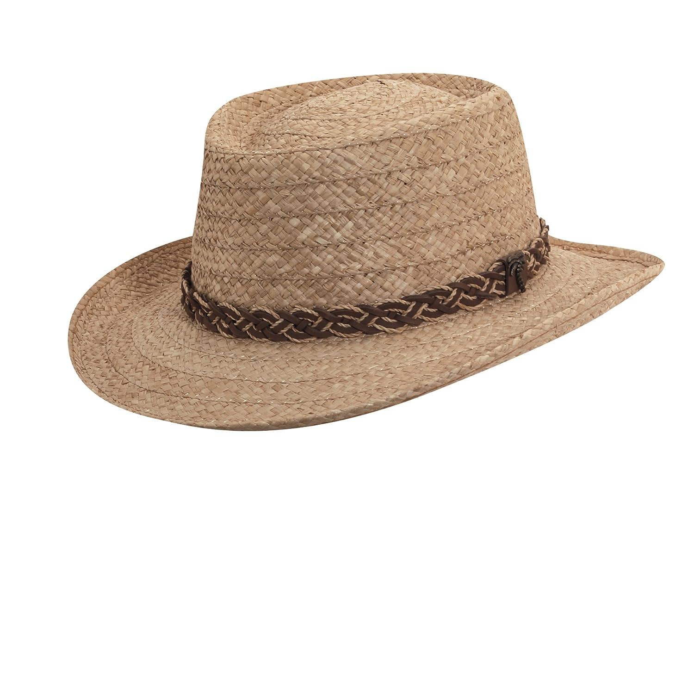 SCALA Men s Organic Raffia Gambler Straw with Braid Trim Hat at Amazon  Men s Clothing store  69334963e604