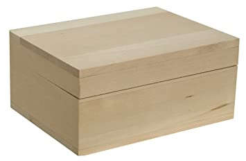 amazon com walnut hollow unfinished wood classic box with hinged