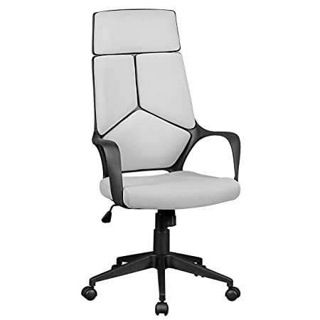 Amstyle Burostuhl Techline Bezug Stoff Grau Schreibtischstuhl Design