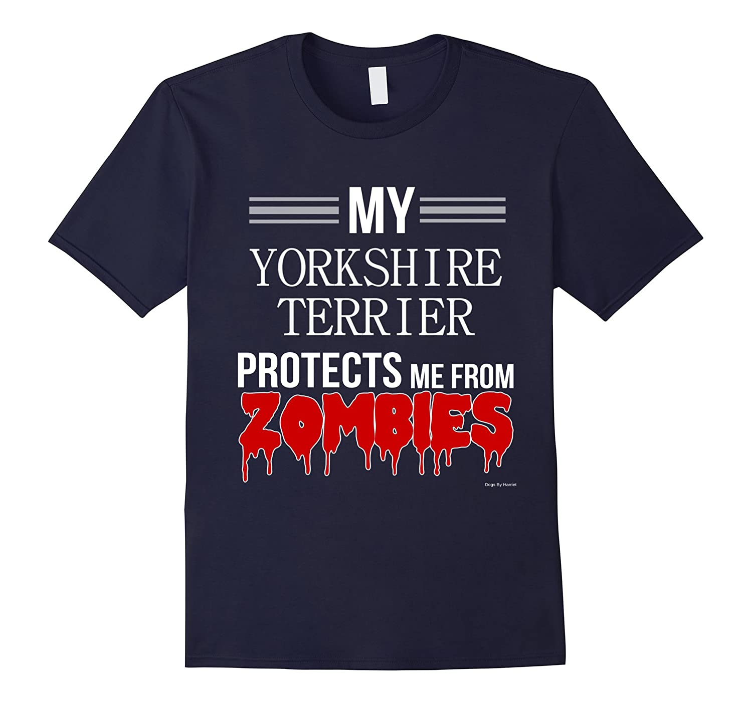 Funny Zombie Yorkshire Terrier - Dog Shirt-TH