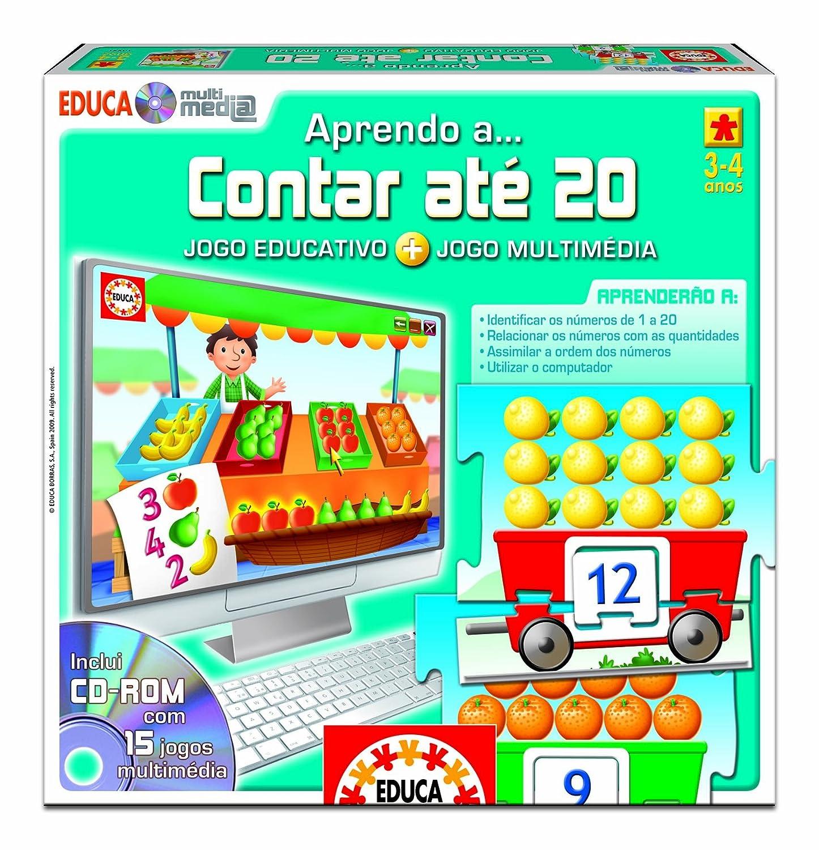 Juegos educativos Educa - Aprendo a... contar até 20, juego multimedia en portugués (14291): Amazon.es: Juguetes y juegos