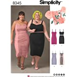 Simplicity Creative Patterns US8345F5 Plus Size Dress, Top & Skirt F5 (18W-20W