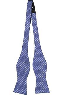 Self tie bow tie - Small white dots on cobalt blue twill Notch rYdmKgfe8M