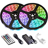 LED Strip Lights, Attuosun 32.8feet/10M RGB Rope Lights 300Leds Waterproof Flexible Tape Lights, Color Changing Self…