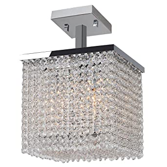 brilliance lighting. Brilliance Lighting And Chandeliers Glam Art Deco Style 4-light Crystal 10-inch Square L