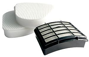 2 Pack Kit for Shark Navigator Lift-away NV350 Nv351 Nv352 Nv355 Nv356 Nv357 Pre-filter Foam and Felt + 1 Hepa Filter For Shark Part # XFF350 & # XHF350
