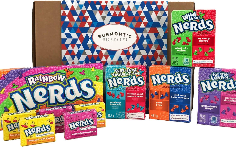 Wonka Nerds American Candy Selection Gift Box - 10 Packs - Hamper Exclusive To Burmonts: Amazon.es: Alimentación y bebidas