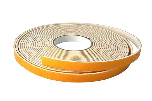 10m Filzklebeband einseitig selbstkl.1,5mm dick 18mm breit