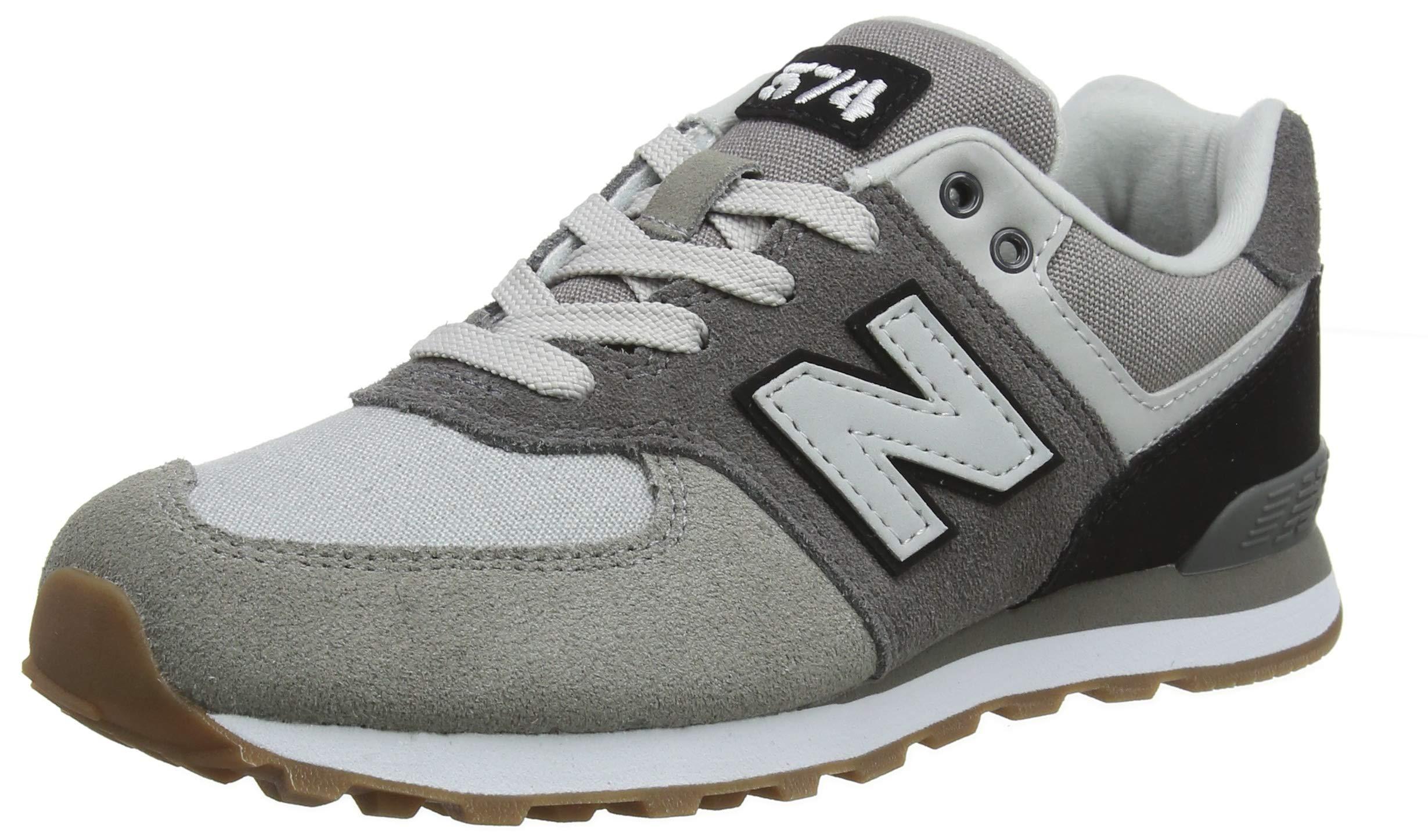 New Balance Boys' Iconic 574 Sneaker Castle Rock/Black 12.5 M US Little Kid