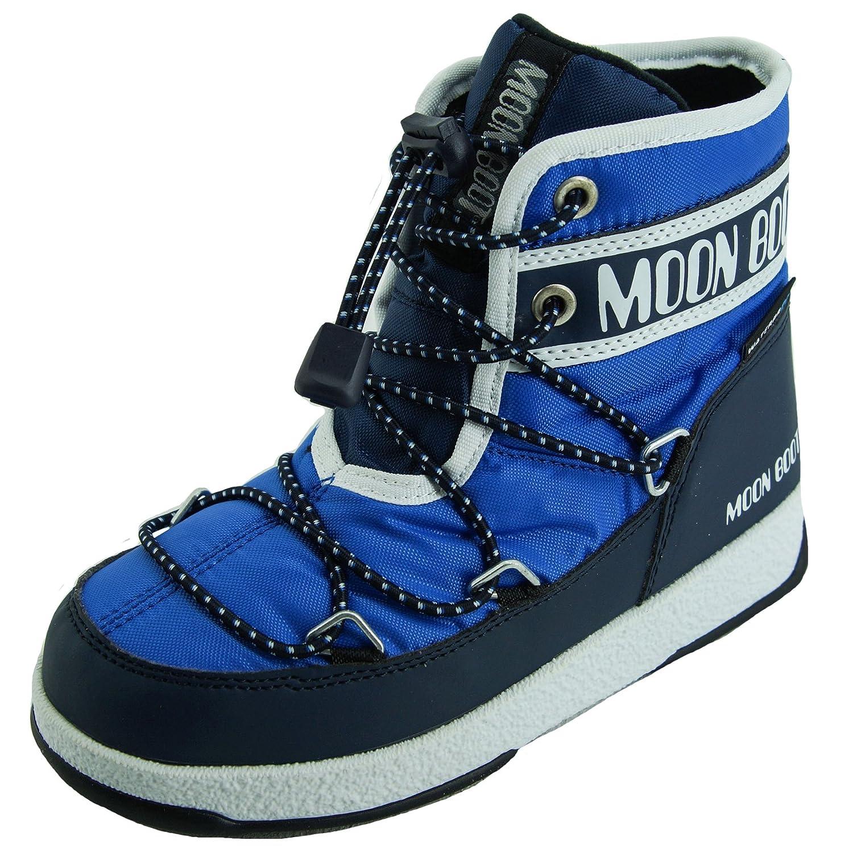 Moon-boot Jr Boy Mid WP, Bottes de Neige Chaussures de Montagne