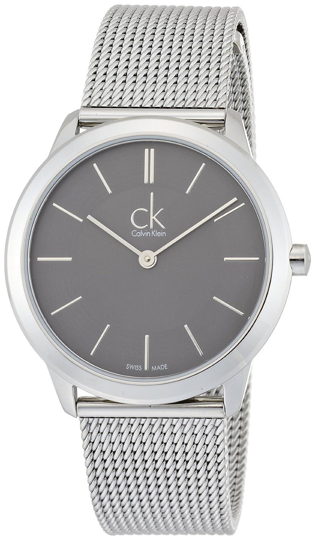 Calvin Klein Damen-Armbanduhr XS minimal Analog Quarz Edelstahl K3M22124