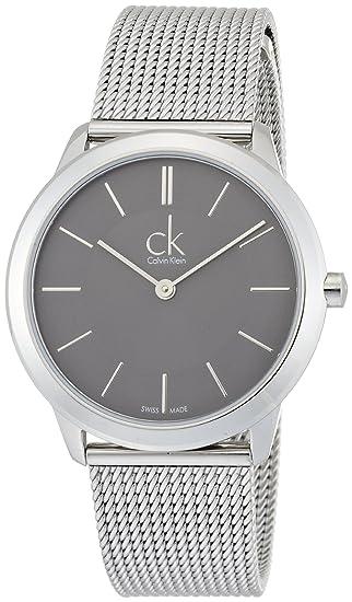 Calvin Klein Reloj Analógico de Cuarzo para Mujer con Correa de Acero Inoxidable - K3M22124: Amazon.es: Relojes