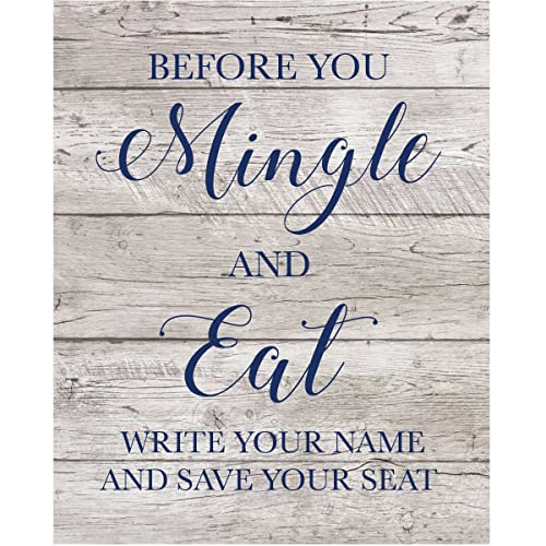 Amazon Wedding Sign Vinyl Decal Before You Mingle And Eat