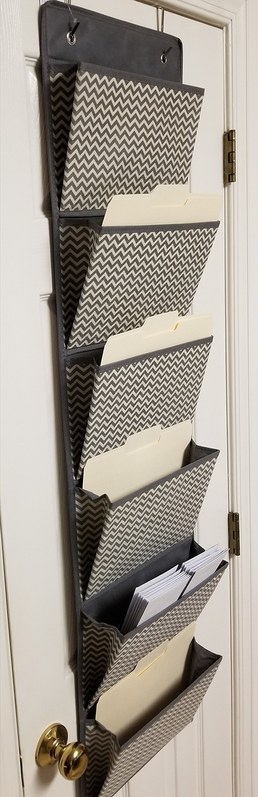 B4 Supplies Wall Mount Hanging Organizer, Office Supplies Storage Organizer for Notebooks, File Folder - 6 Pockets