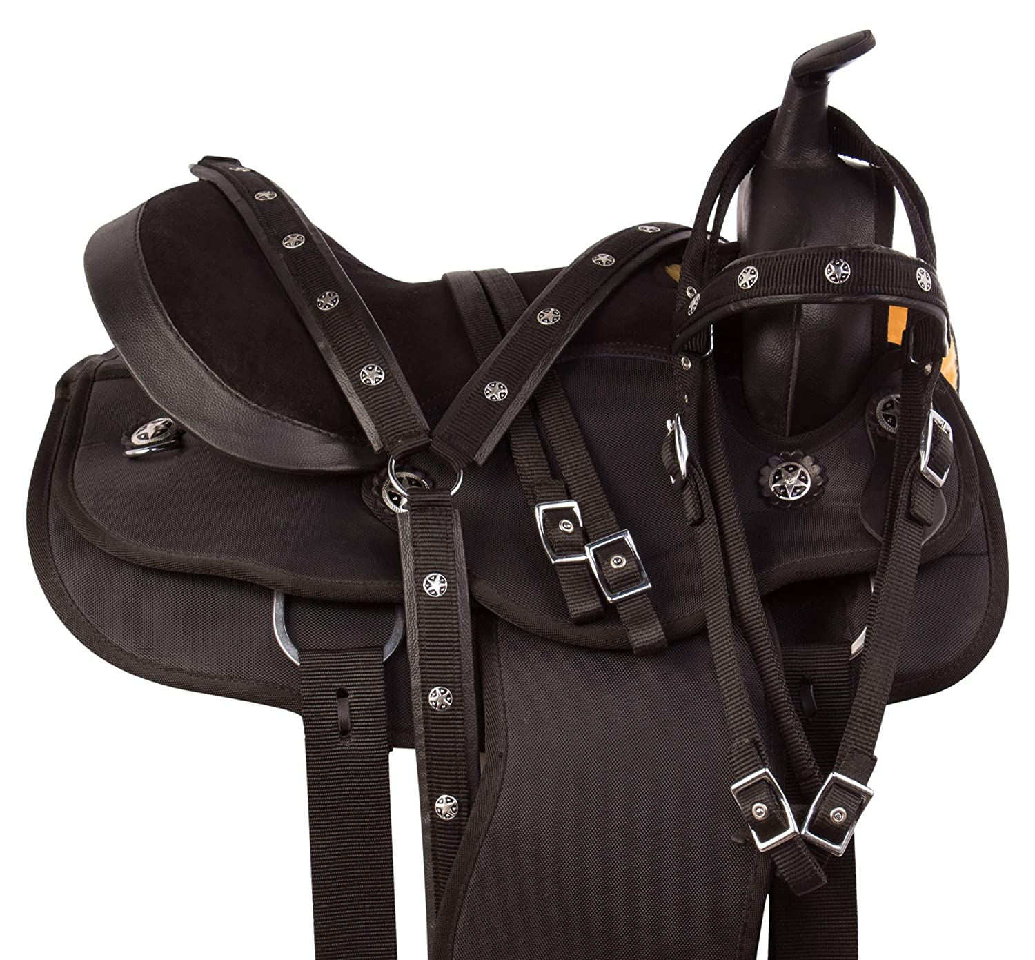 Amazon.com : AceRugs Arabian 14 15 16 17 18 Comfy Western Pleasure Trail Horse Saddle TACK Set : Sports & Outdoors