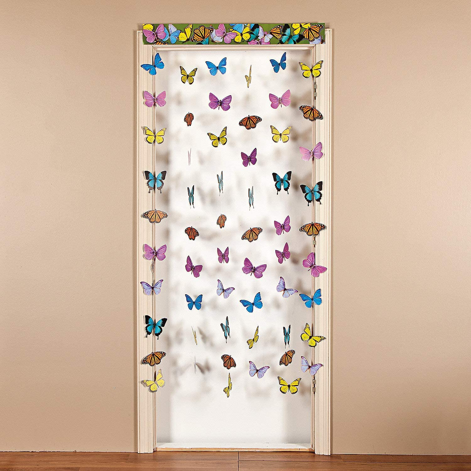 Butterfly Hanging Doorway Curtain (6 feet long) Classroom and Party Decor