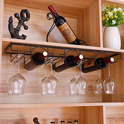 Amazon Com Mzgh Island Diy Hanging Goblet Rack Upside Down