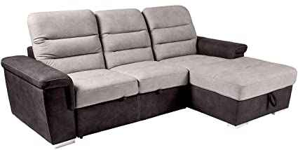 Homelegance Alfio Sectional Sofa with Pull-Out Bed and Hidden Storage,  99\