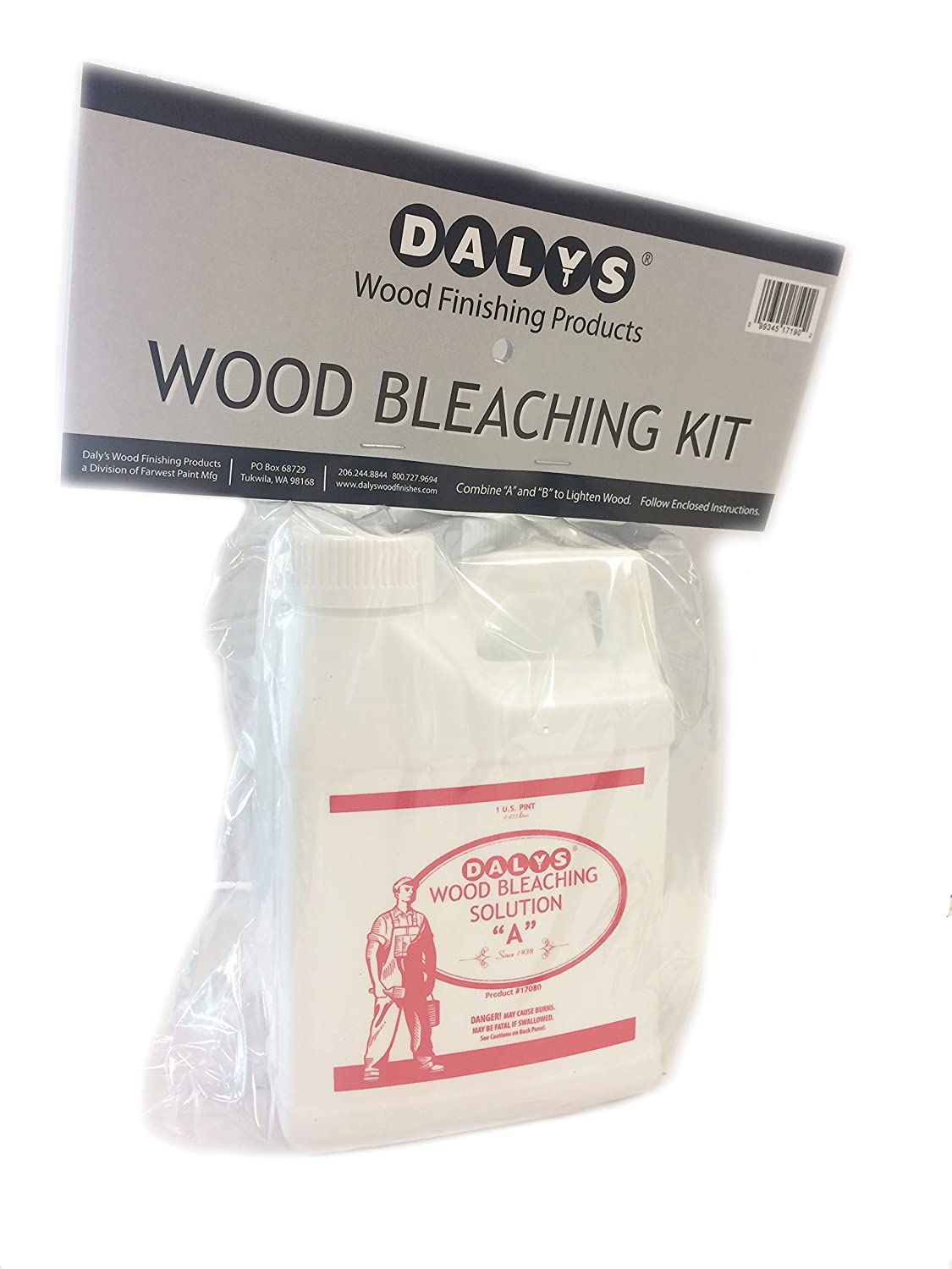 Daly\'s Wood Bleach Solution Kit Containing Solution A and B, 1 ...