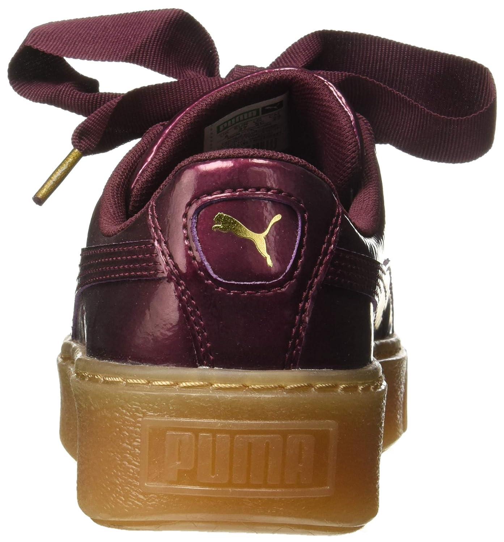 0c1b0fbecc Puma Girl's Basket Platform Kiss Anodized Jr Fig-PUM Sneakers: Buy ...