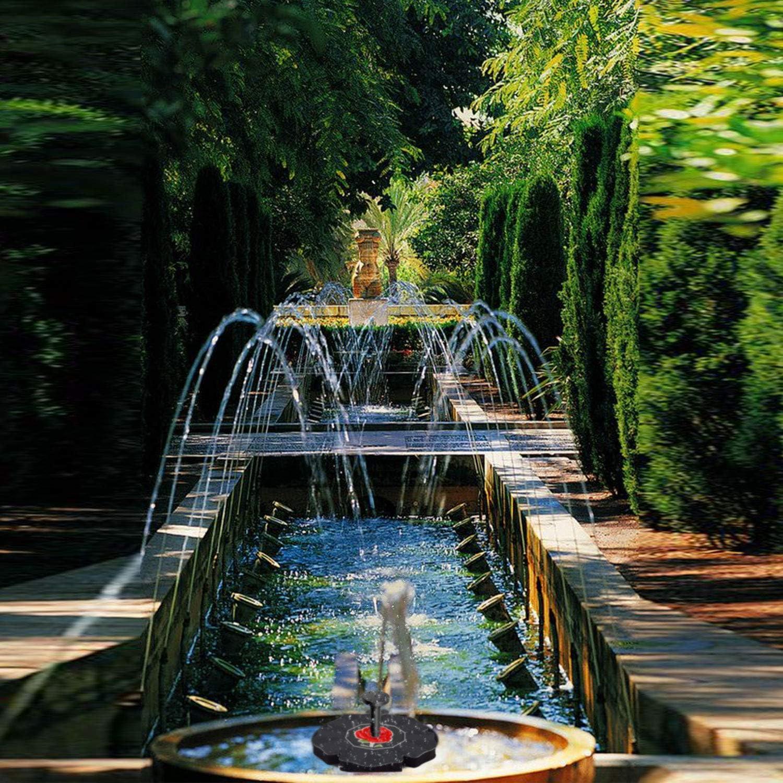 MQUPIN - Bomba Solar para Fuente de Agua de 1,4 W con Fuente Flotante para jardín, para pájaros, bañeras, peceras, Jardines, estanques y Piscinas: Amazon.es: Jardín