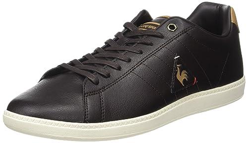 Le COQ Sportif Feret ATL Leather, Entrenadores Bajos para Hombre, Marrón (Reglisse/Tan), 40 EU