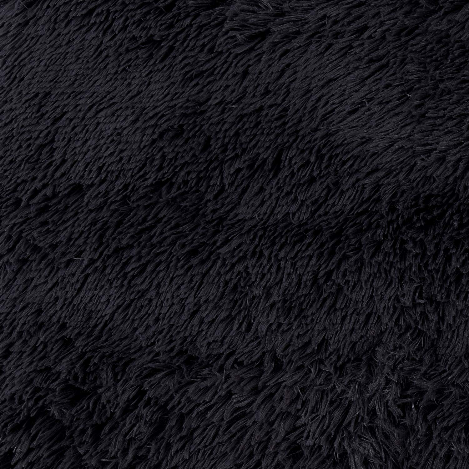 SANMU Soft Round Rug,Fluffy Silky Carpet Fashion Color Smooth Bedroom Mats Round Shag Floor Pad for Girls Bedroom Decorate and Indoor Use,4 Feet,Black by Softlife (Image #7)