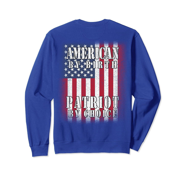 American Flag Sweatshirt Shoulder Back Usa Red White Blue-alottee gift