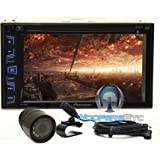 """Pkg Pioneer AVH-290BT In-Dash 2-DIN 6.2"""" Touchscreen DVD/MP3 Car Stereo Receiver with Bluetooth and iPod/iPhone Control + XO Vision HTC35 Waterproof Backup Camera with Nightvision"""