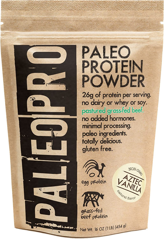 PaleoPro - Paleo Protein Powder - Gluten Free, no Dairy, no whey, no Soy, pastured Grass-fed Beef, no Added Hormones, Minimal Processing, Paleo Ingredients, Delicious Taste - 1lb/454g